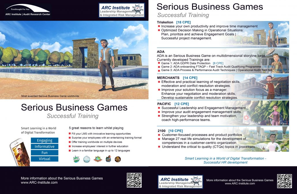Serious Business Games | ARC-Institute | Audit Research Center